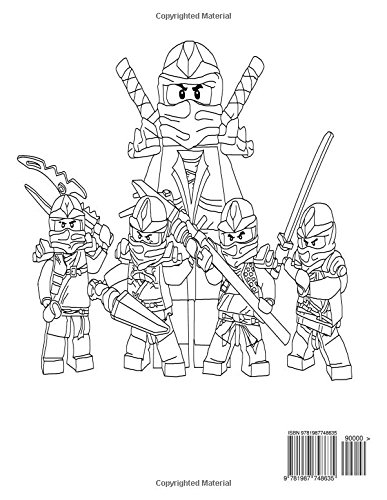 Ninjago Masters of Spinjitzu Coloring Book: Coloring All ...