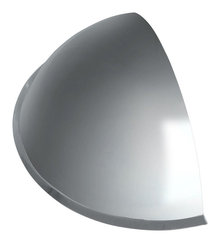 信栄物産 防犯ミラー(室内用) 半球ミラー ハーフ マグネットタイプ 長さ330X高さ165X100mm 曲面(R)170mm R-30HM B07CWT39ZQ 12217 長さ330X高さ165X100mm|マグネットタイプ  長さ330X高さ165X100mm