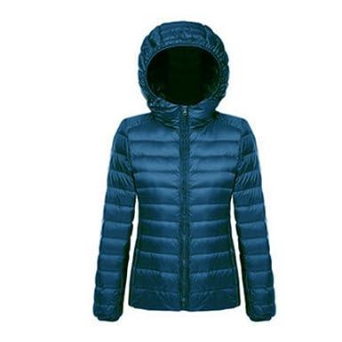 1f712054905 Wenyujh Femme Manteau Court Hiver Slim avec Capuche Jacket Veste Chaud en  Duvet Doudoune Blouson Légère