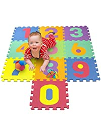 Matney Foam Mat of Number Puzzle Pieces– Great for Kids to Learn and Play – Interlocking Puzzle Pieces BOBEBE Online Baby Store From New York to Miami and Los Angeles