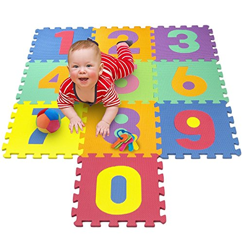 Matney Foam Mat of Number Puzzle Pieces– Great for Kids to Learn and Play – Interlocking Puzzle Pieces -