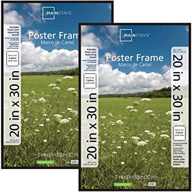 Amazon.com: Mainstays 20x30 Basic Poster and Picture Frame, Black ...
