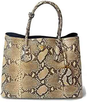 32f66e96ba Prada XL Genuine Python Snake Skin Double Tote Shoulder Hand Bag -  Extremely Limited Edition