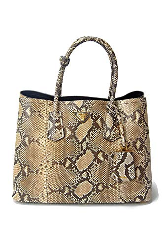 Prada XL Genuine Python Snake Skin Double Tote Shoulder Hand Bag - Extremely Limited Edition -