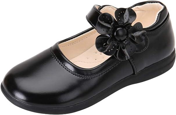 Girls School Uniform Dress Shoe Mary Jane Flat Shoes Toddler//Little Kid//Big Kid