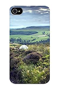 Case For Iphone 4/4s Tpu Phone Case Cover(way The Field) For Thanksgiving Day's Gift by runtopwell