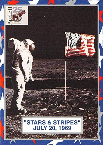 Buzz Aldrin trading card NASA Apollo 11 American Flag on Moon Flight 1994 Citgo #4