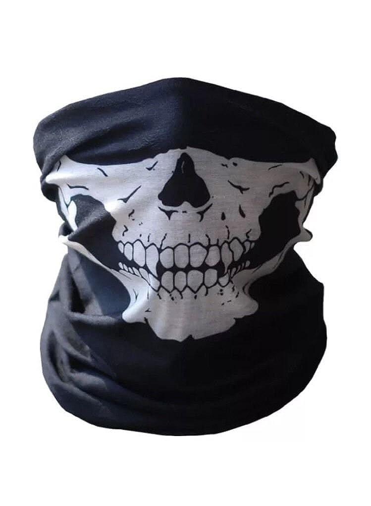 UK! Bicycle Ski Skull Face Mask Ghost Scarf Neck Warmer Snood Quad Bike Skeleton