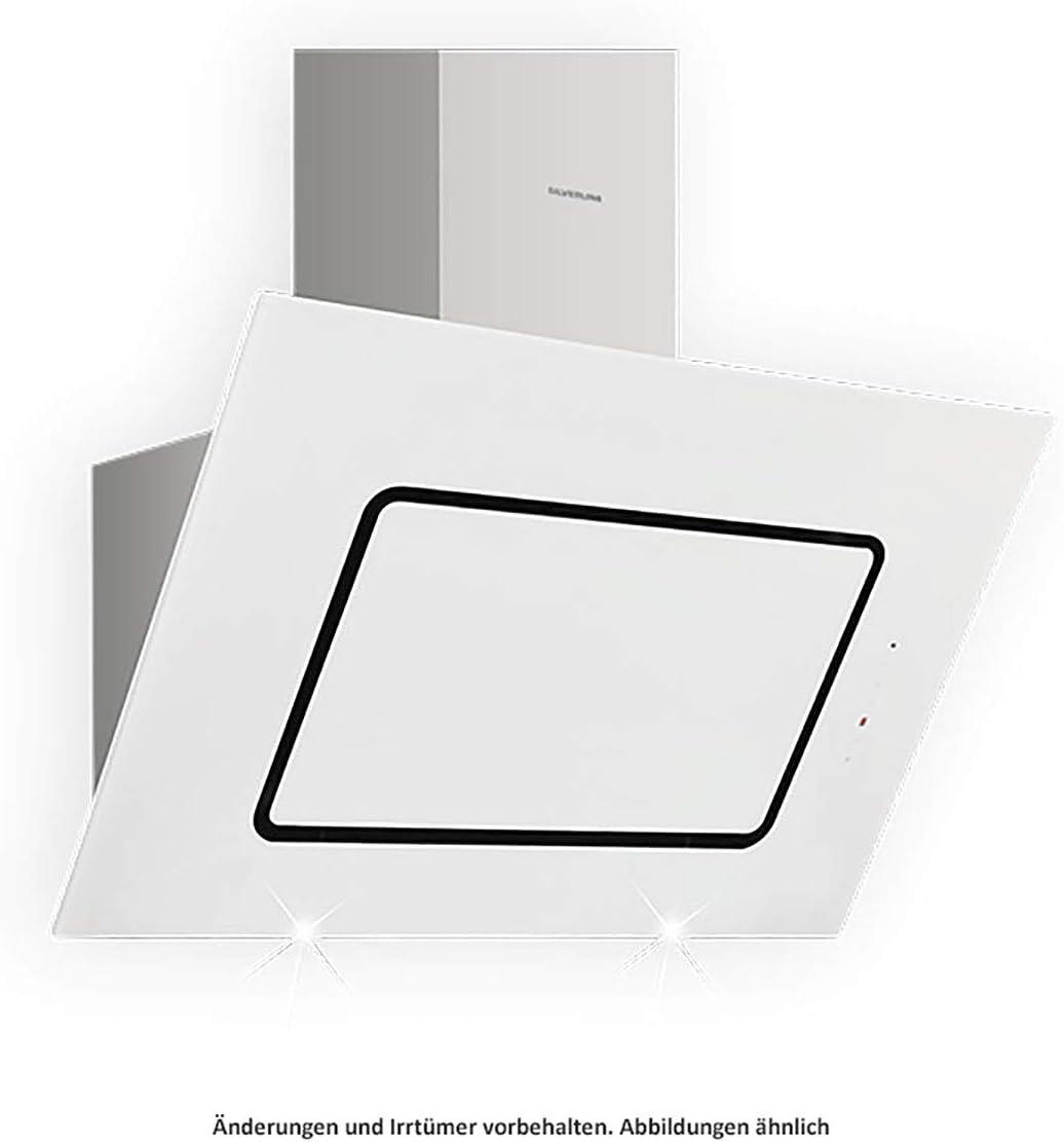 Silverline Porto PRW - Cubierta de pared (800 W, acero inoxidable y cristal, 80 cm), color blanco: Amazon.es: Grandes electrodomésticos