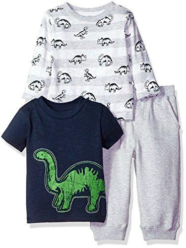 Little Me Navy 3 Pc Dinosaur Pant Set (3T)