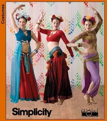 Amazon.com: Simplicity Pattern 3832 ~ The Dance Studio Belly Dance ...