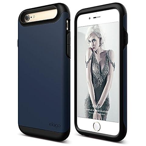 iPhone 6S Case, elago [Duro][Matte Black / Jean Indigo] - [Premium Armor][Heavy Shock Absorption][Dual Layers] – for iPhone (Phone Covers For Iphone 6 Elago)