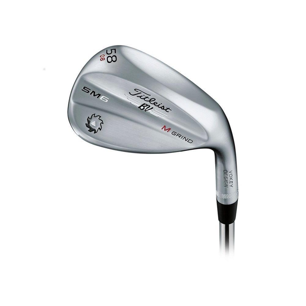 Titleist Vokey SM6 Tour Chrome Wedge Right 58 8 M Grind True Temper Dynamic Gold Wedge