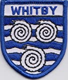 Yorkshire Whitby Embroidered Badge (a063-Whi)