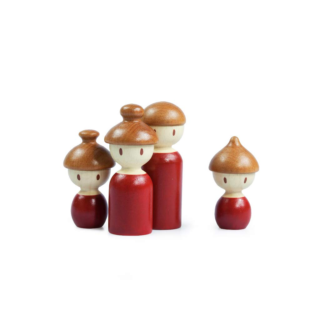 Small LINGLING-TOYS Wooden Toys Home Decoration Family Series Decoration Creative Jewelry (Size   S)