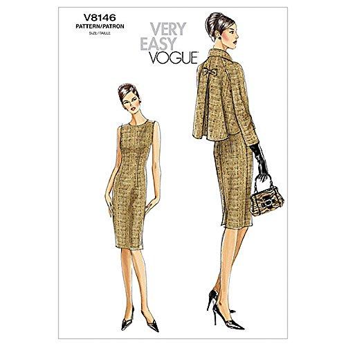 Vogue Ladies Easy Sewing Pattern 8146 Dress & Jacket Suit