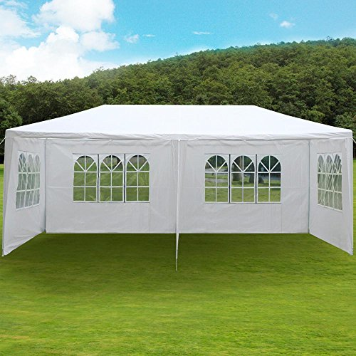 Yaheetech Outdoor 10'x20'Canopy Party Wedding Tent Gazebo Pavilion Cater Events 4 Sidewall