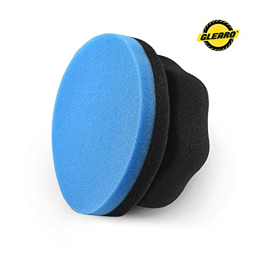 Glearo Car Wax Foam Applicator - Hexagonal Grip Liquid/Foam Waxing Sponge - Evenly Distributes Car Foam, Hex Grip Design No Slip No Mess & Easy Use Perfect Car Waxing