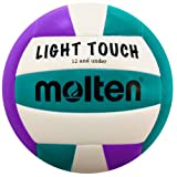 Molten MS240-3 Light Touch Volleyball, Purple/Aqua