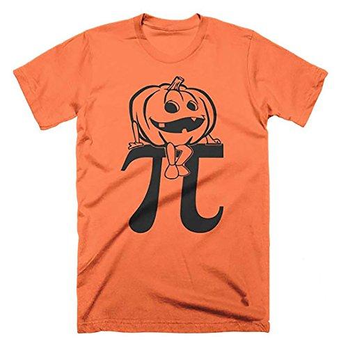Pumpkin Pi Pie Halloween Math T Shirts - Great for Teachers (Small) Orange ()