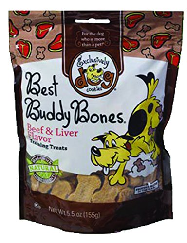 Exclusively Dog Best Buddy Bones-Beef and Liver Flavor, 5-1/2-Ounce Package