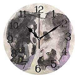 Ernest Congreve Wall Clock Hawaii Palm TreeSilent Non Ticking Decorative Square Digital Clocks Quartz Battery Operated Square Easy to Read for Home/Office/School Clock 8 inch