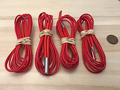 4 pcs Reprap 24V 40W Ceramic Cartridge Heater for 3D Printer Prusa Mendel up C19