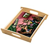 Home of German Shepherds 4 Dogs Playing Poker Wood Serving Tray