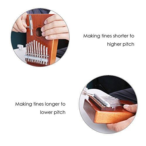 Mugig Kalimba Mbira Sanza 10 Keys Thumb Piano Pocket Size Beginners Friendly Supporting Kalimba Bag and Musical Notation - Image 3