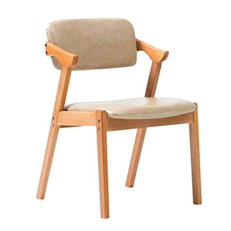 zhedieyi Elegante silla plegable de madera maciza con ...
