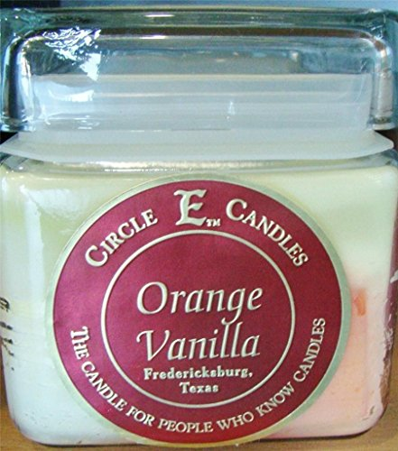 New Circle E Candle Orange Vanilla Citrus 28 Oz Jar 165 Hr Burn Time (28 Oz Jar)