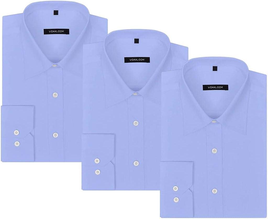 vidaXL Camisas de Vestir/Negocios de Hombre Pack 3 Unidades ...