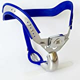 ZHS Male Chastity Belt Slave BDSM Bondage Fetish Lockable Penis Restraint Device Stainless Steel Chastity Cage Sex Toys For Men (1PC)