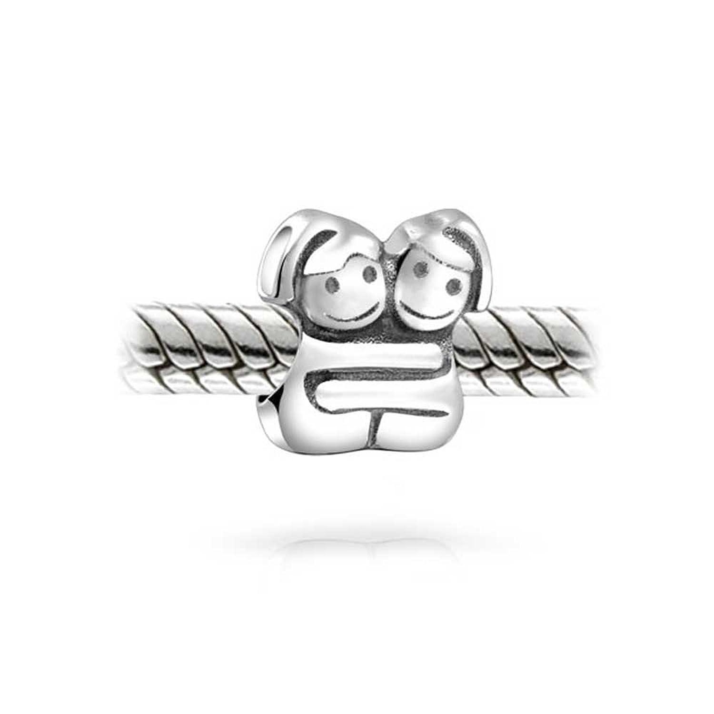 Bling Jewelry Argento 925 abbracciando sorelle Twin Ragazza fascino del  tallone: Amazon.it: Gioielli