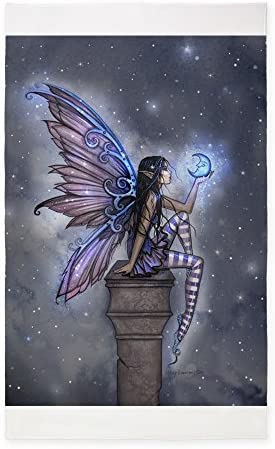 CafePress Little Blue Moon Fairy Fantasy Art 3'X5' Decorative Area Rug
