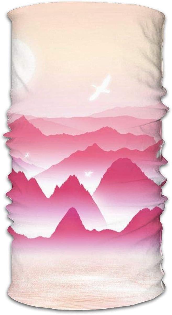 Daily Bandana Headband Set Landscape Ink Illustration Sport Sun Protection Windproof Dust Face Scarf Headdress