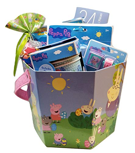 Peppa Pig Theme Activity Gift Basket Bundle Set -