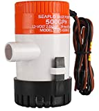 Seaflo New 500GPH 12V 2A Electric Submersible Bilge Pump with 3/4