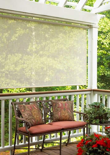 48 Inch Patio Table Cover: Radiance 0370886 Sun Shade Roll-Up Shade Sahara 96×72