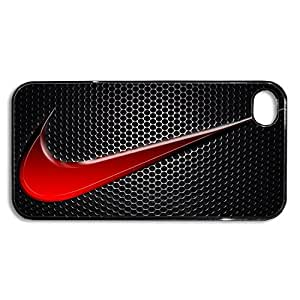 Nike Swoosh Logo iPhone 4 5S 5c, BLACK Cell Phone Case, iPhone Cover, iPhone Case, Phone Cover, Phone Case, Back Case (Nike #43 iPhone 5S)