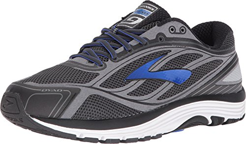 Brooks Men's Dyad 9 Asphalt/Electric Brooks Blue/Black 11.5