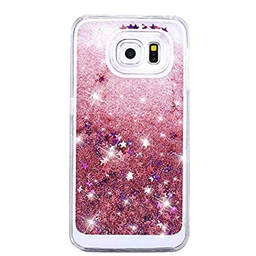 Keep Calm Pink Glitter - Urberry Galaxy S7 Edge Case, Floating Bling Glitter Sparkle Case for Samsung Galaxy S7 Edge with a Screen Protector (Pink)