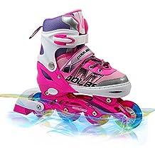 Adjustable Inline Skates for Kids , Otw-Cool Girls Rollerblades with All Wheels Light up , Safe and Durable inline roller skates for Girls