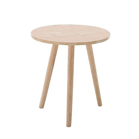 Amazon.com: Mesa redonda pequeña para sofá, mesa auxiliar ...