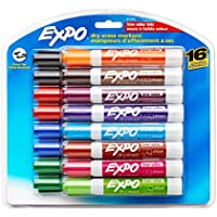 16-Pack EXPO Low Odor Dry Erase Markers