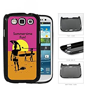 Summertime Fun Sunset Surfers Hard Plastic Snap On Cell Phone Case Samsung Galaxy S3 SIII I9300