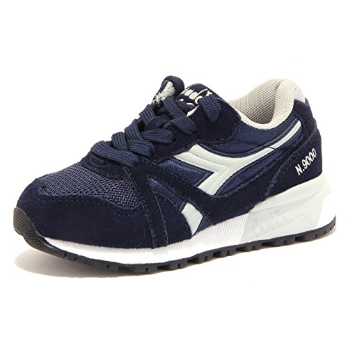 Collo A bambini Blu Basso N9000 Y Unisex Sneaker Diadora wq7Ot