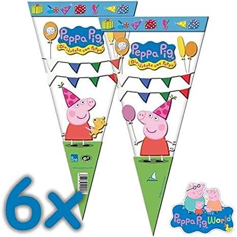 Unbekannt 10 Bolsas de Fiesta * Peppa Pig * para Fiestas y cumpleaños Infantiles//Cono//Fiesta Fiesta temática Infantil niños obsequios Bolsas Bolsas ...