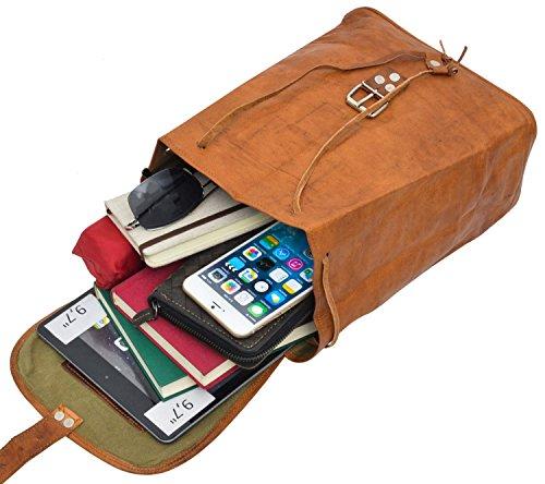 Gusti Leder nature Emerson Lederrucksack Cityrucksack Ledertasche aus Ziegenleder Vintage Reiserucksack Shoppingtasche Praktisch Elegant Stylisch K57b