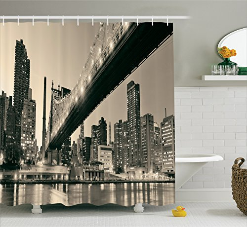 Queensboro Bridge NYC Night Art Prints New York City View Mo
